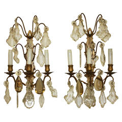 Pair of 19th Century Bronze Sconces