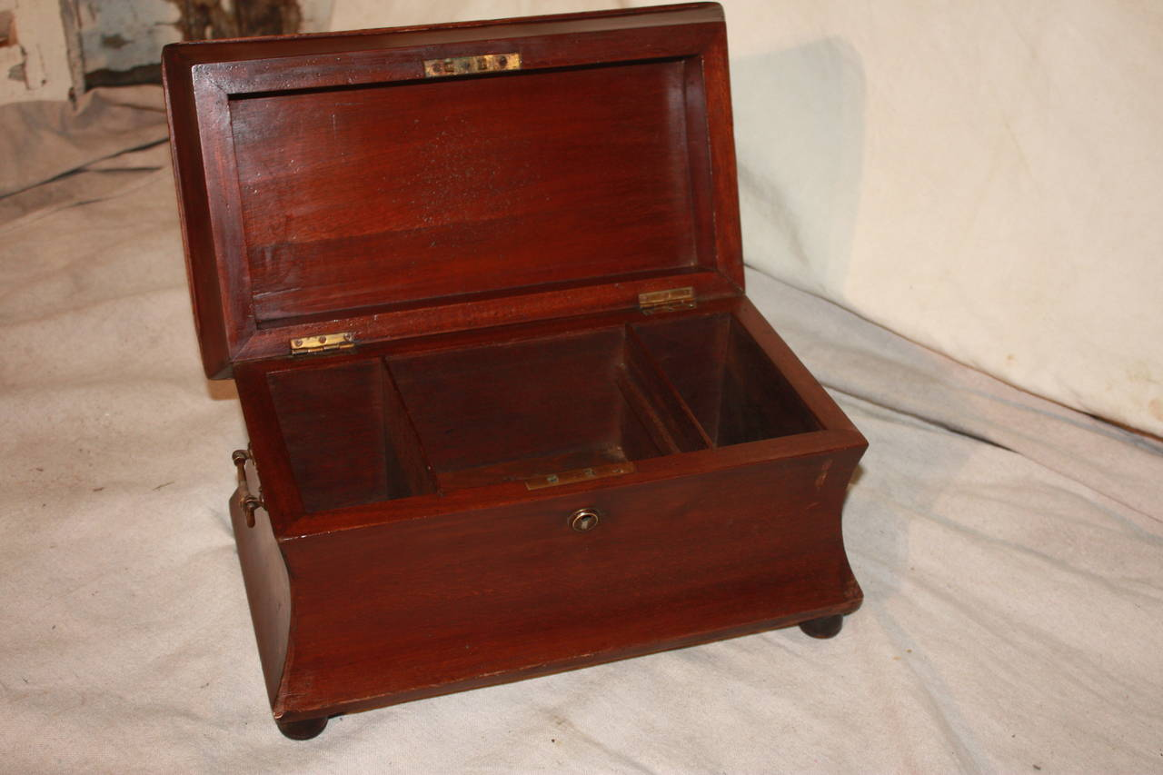 Mahogany 19th Century French Jewelry Box For Sale