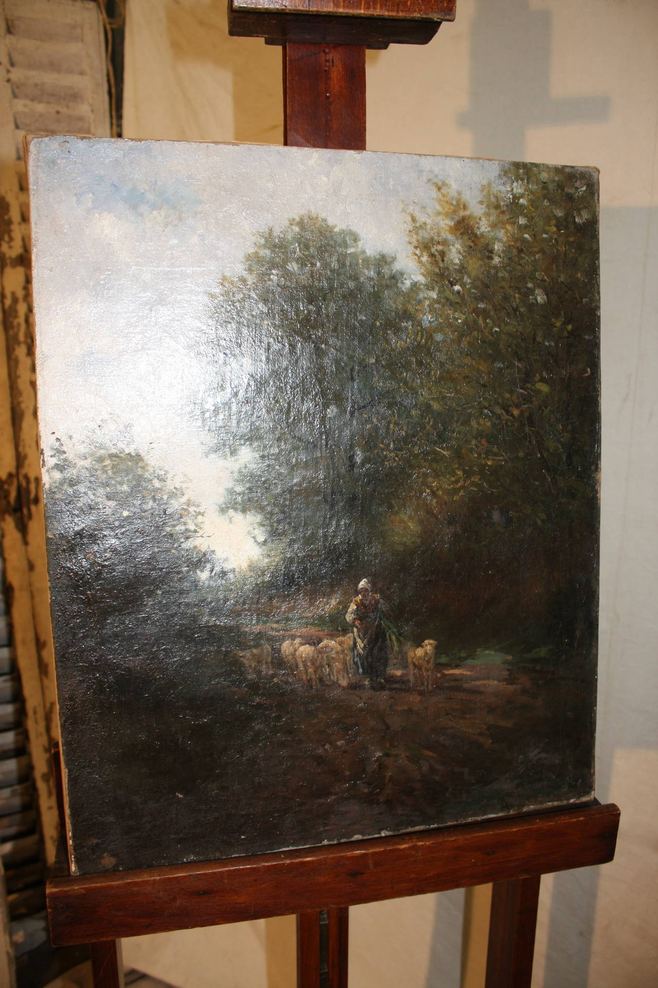 19th century French oil painting, oil on canvas.