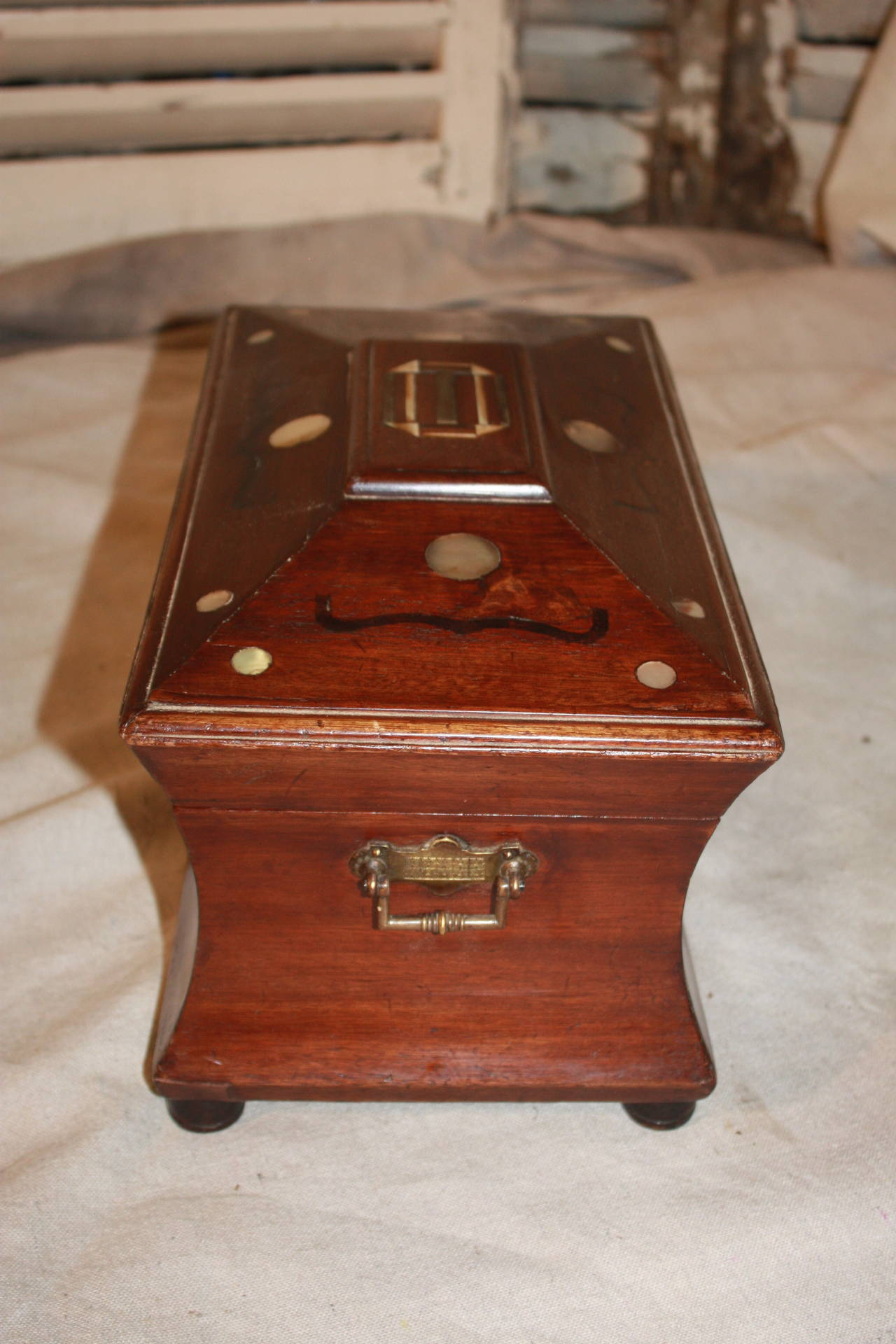 19th Century French Jewelry Box In Good Condition For Sale In Atlanta, GA