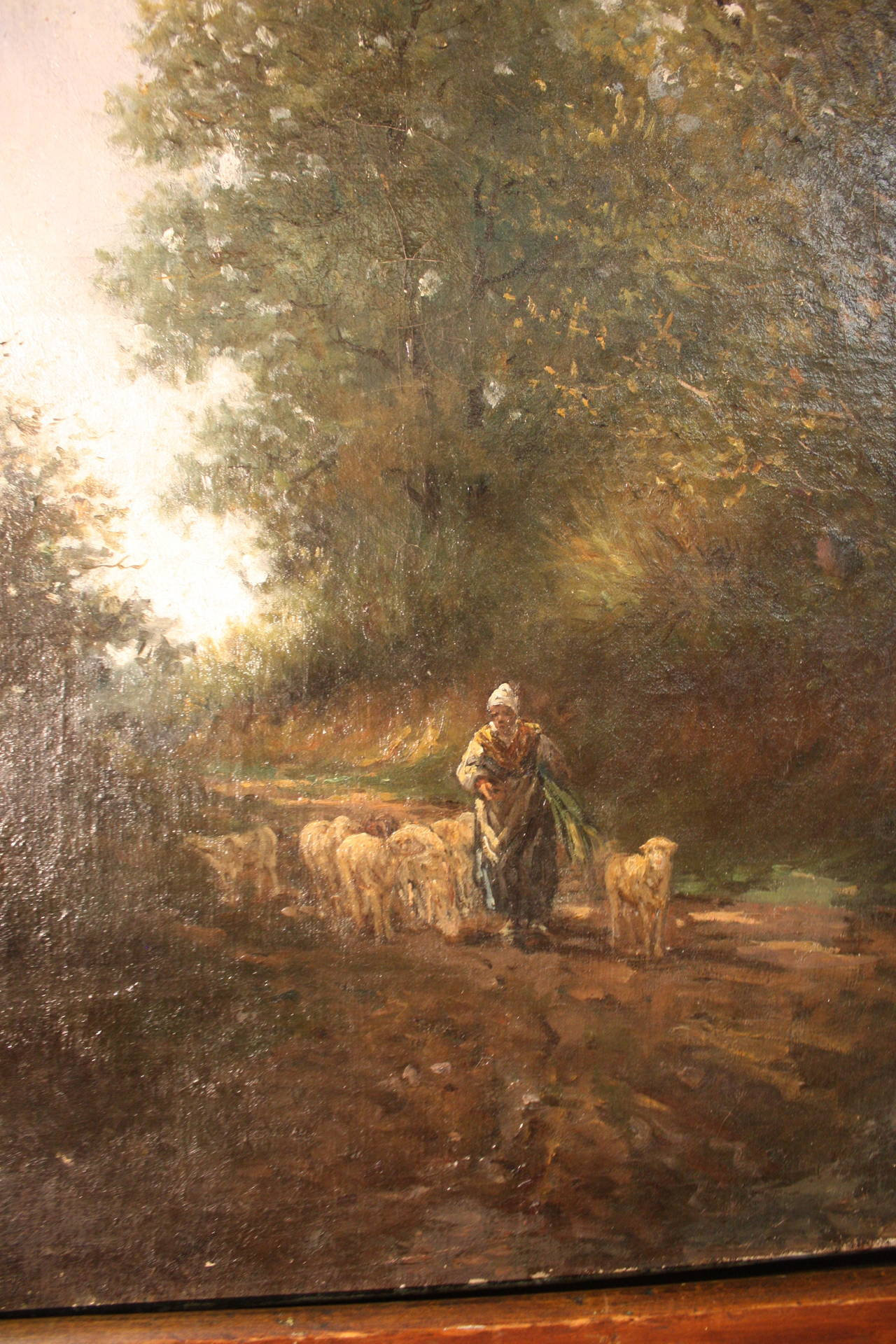 19th Century French Oil Painting In Good Condition For Sale In Atlanta, GA