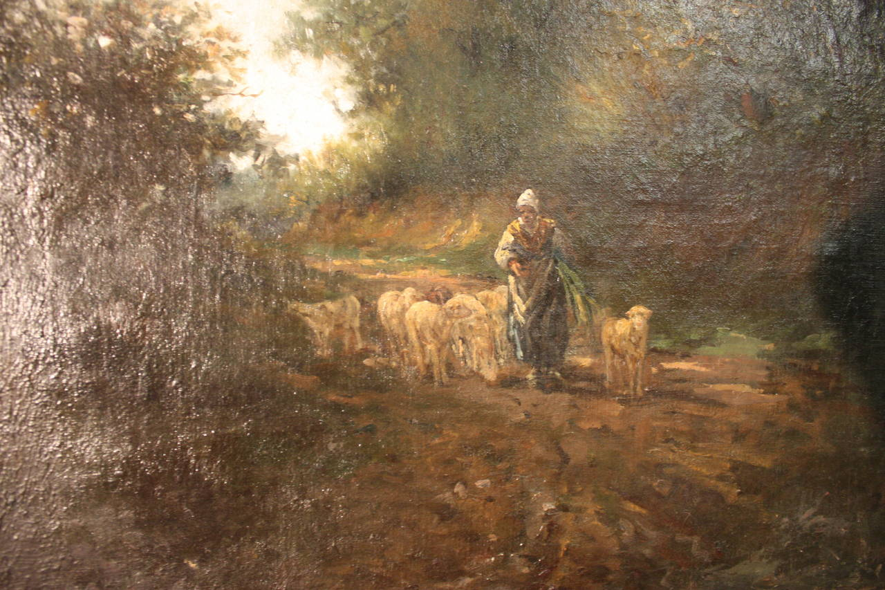 19th Century French Oil Painting For Sale 1