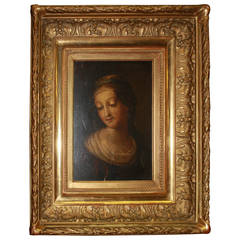 Charming 18th Century Oil Portrait