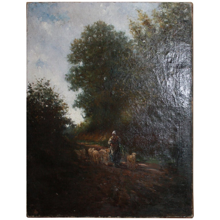 19th Century French Oil Painting For Sale