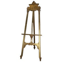 Early 20th Century French Gilt Easel