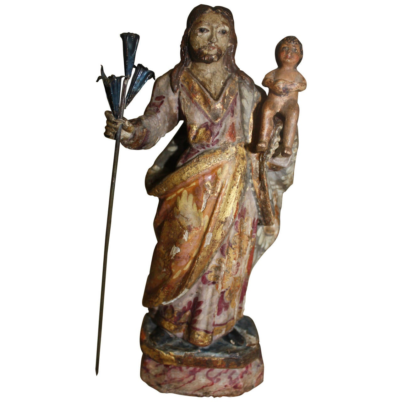 17th Century Religious Wood Sculpture