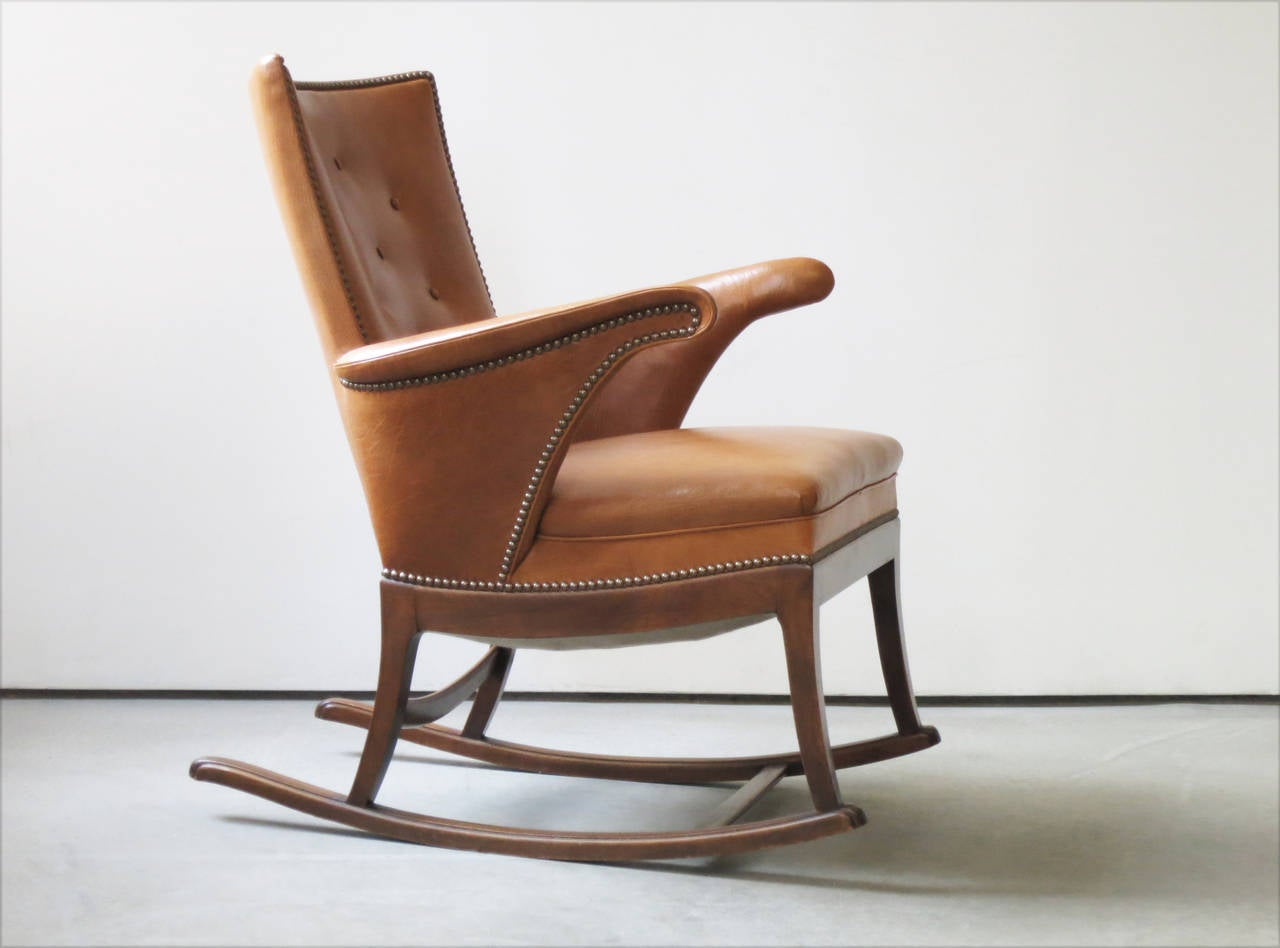 1930s rocking chair by frits henningsen for sale at 1stdibs for Schaukelstuhl outdoor holz