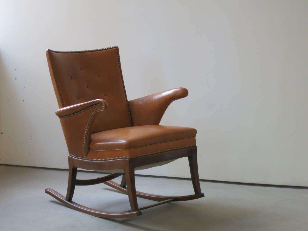 Scandinavian Modern 1930s Rocking Chair by Frits Henningsen For Sale