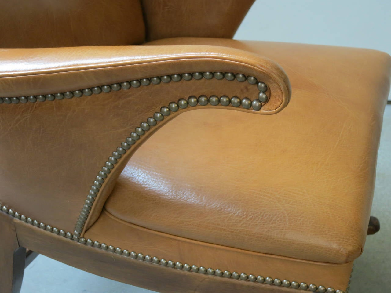 Goatskin 1930s Rocking Chair by Frits Henningsen For Sale
