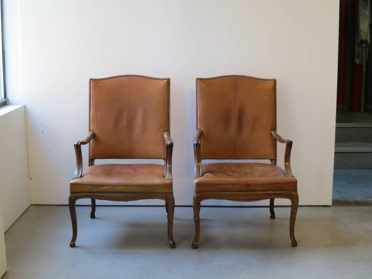 Frits Henningsen Four Large 1930s Armchairs in Danish Rococo Style For Sale 1