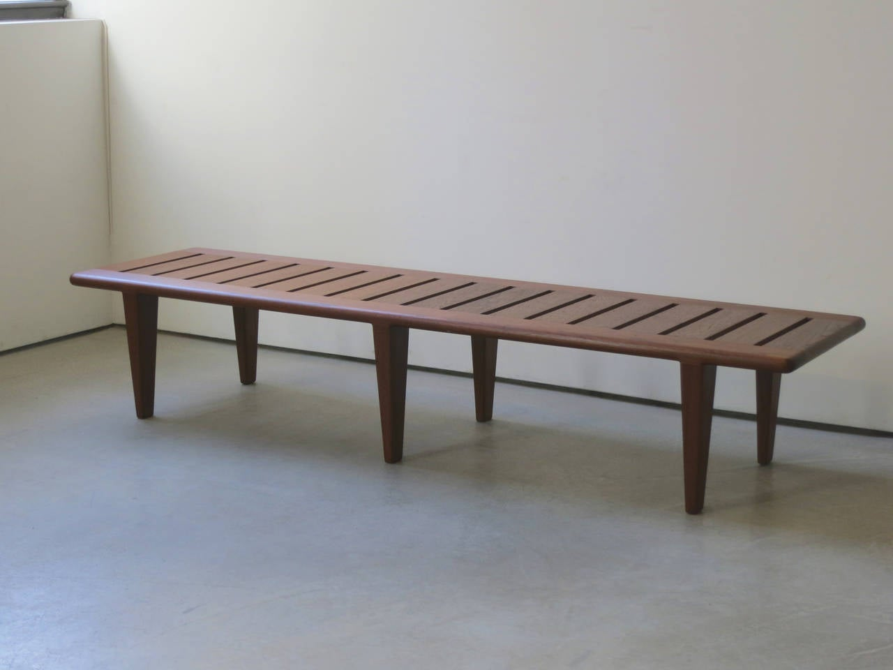 slatted teak bench by hans wegner 2 - Teak Bench