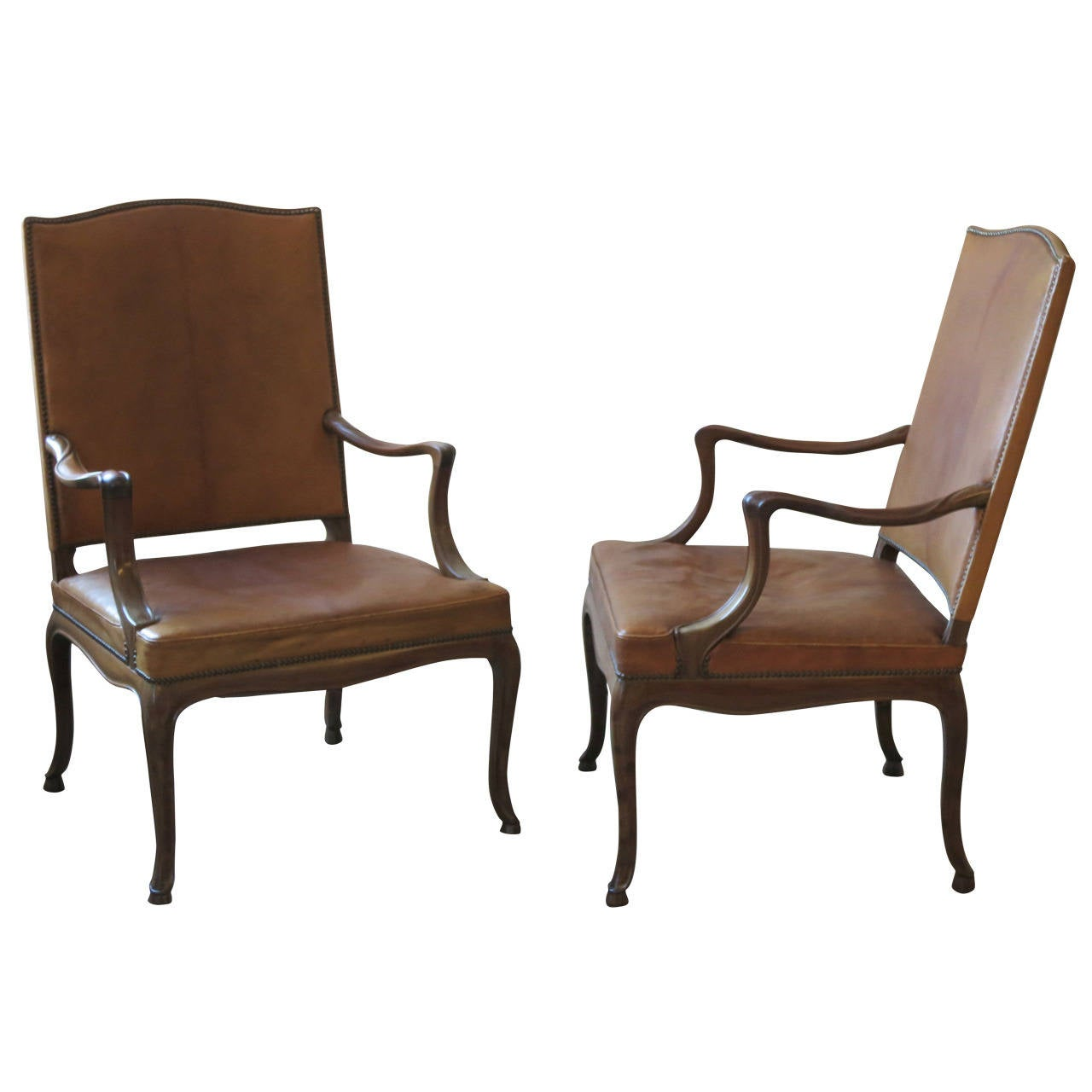 Frits henningsen four large s armchairs in danish