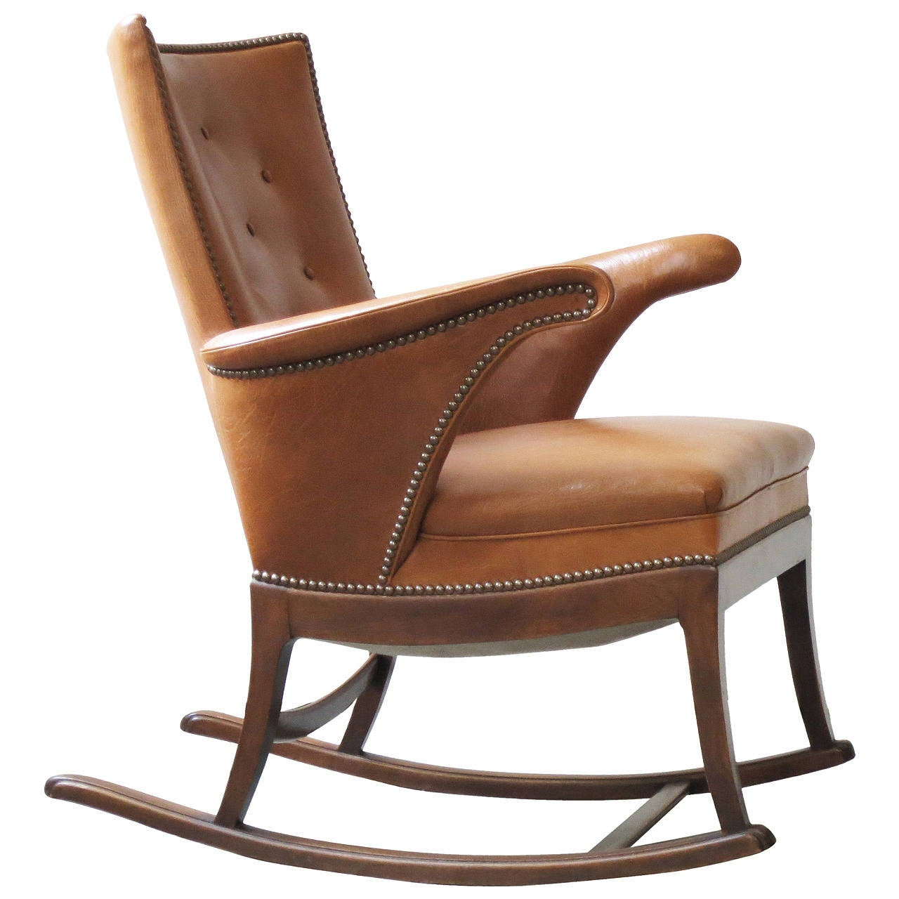 1930s rocking chair by frits henningsen for sale at 1stdibs for Rocking chair