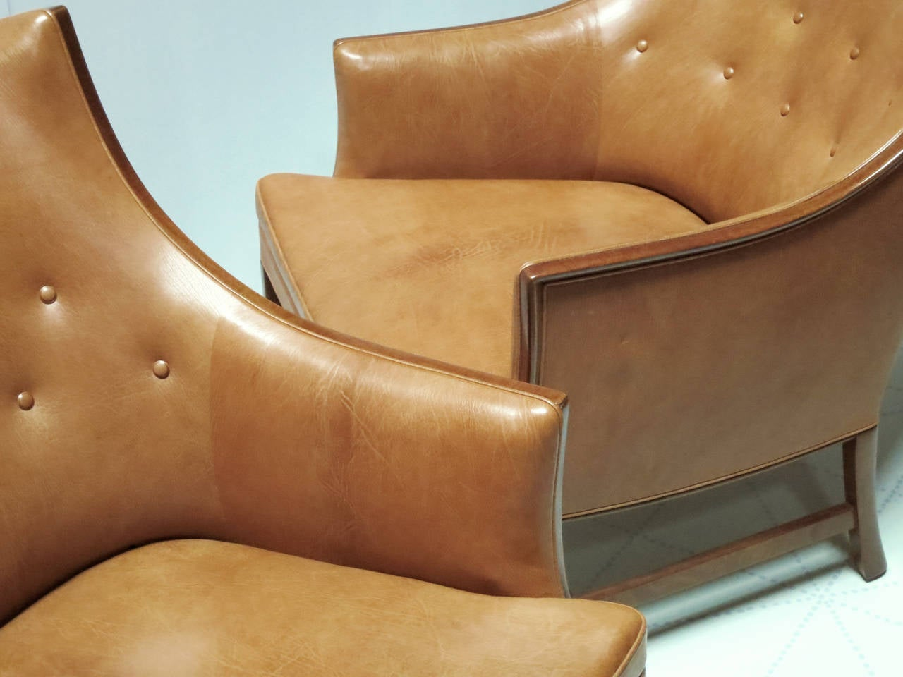 Pair of Refined 1930s Easy Chairs by Frits Henningsen 3