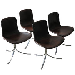 Set of Four PK-9 Dining Chairs by Poul Kjærholm