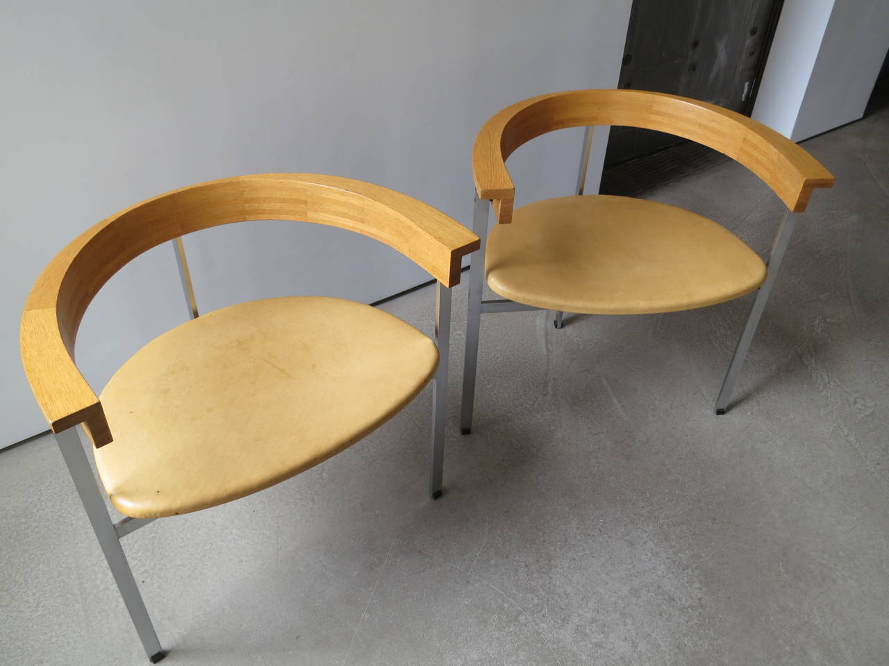 Plated Pair of PK-11 Armchairs by Poul Kjærholm, made by E. Kold Christensen For Sale