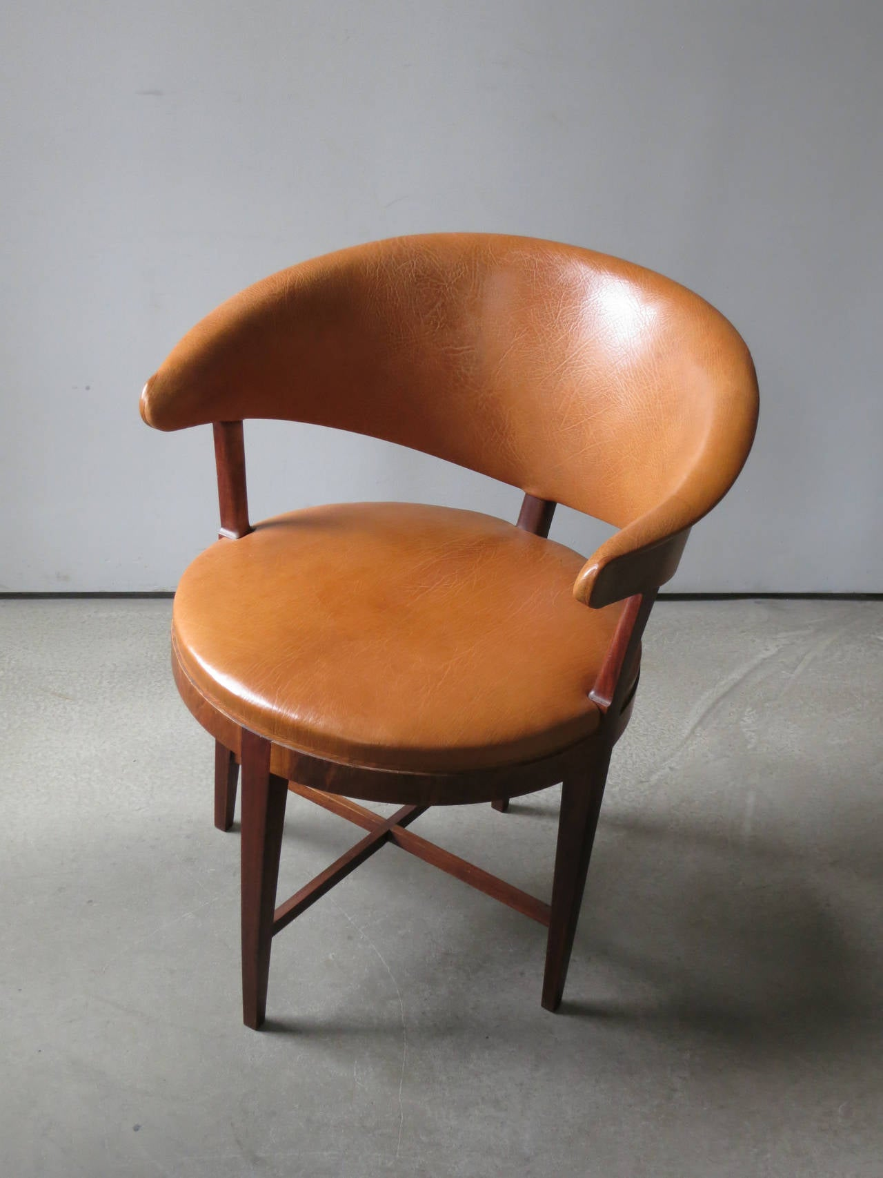 A Rare Elegant Round Back Chair by Frits Henningsen at 1stdibs