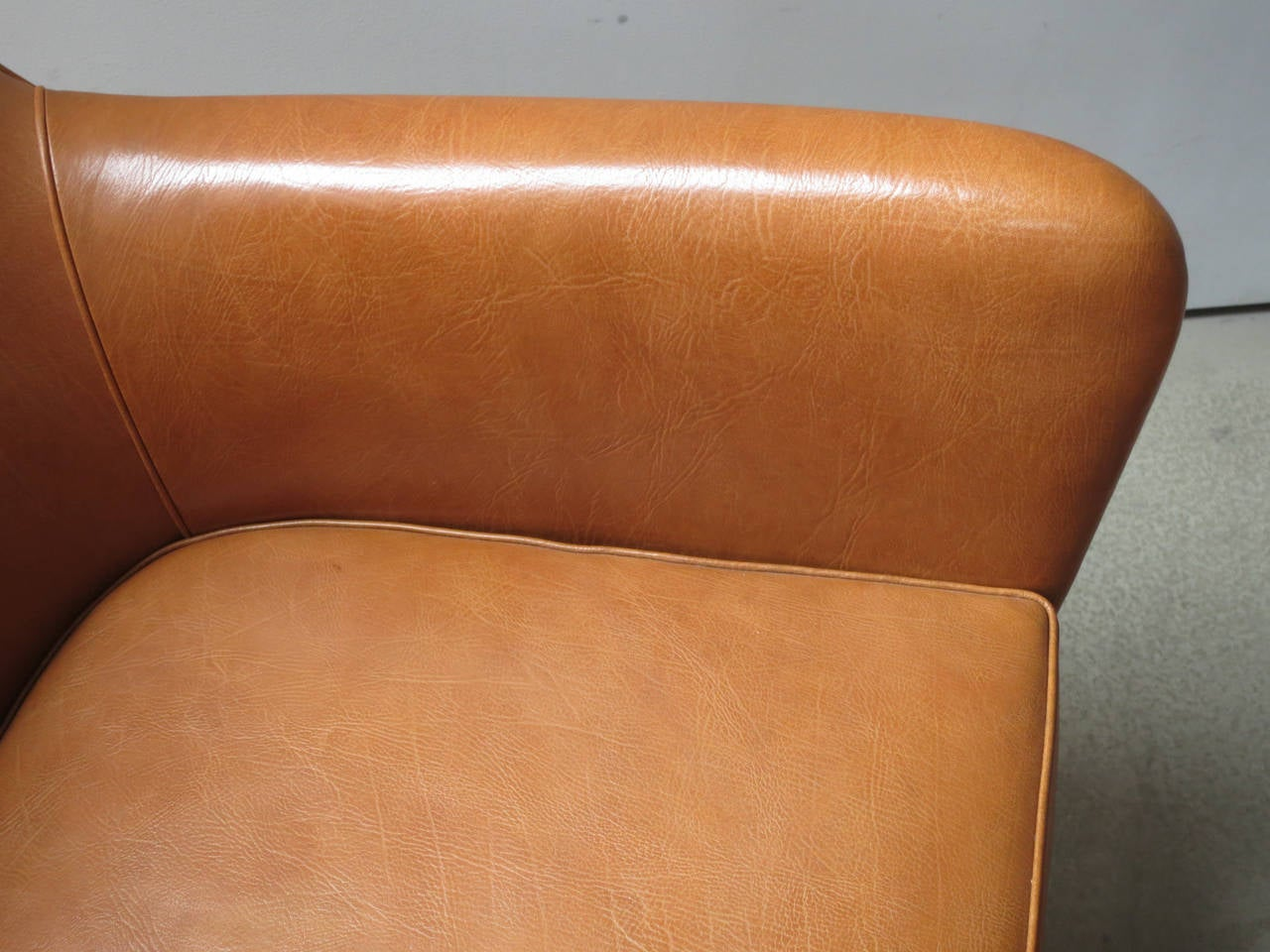 Pair of 1940s Lounge Chairs in Nigerian Leather by Ole Wanscher 1