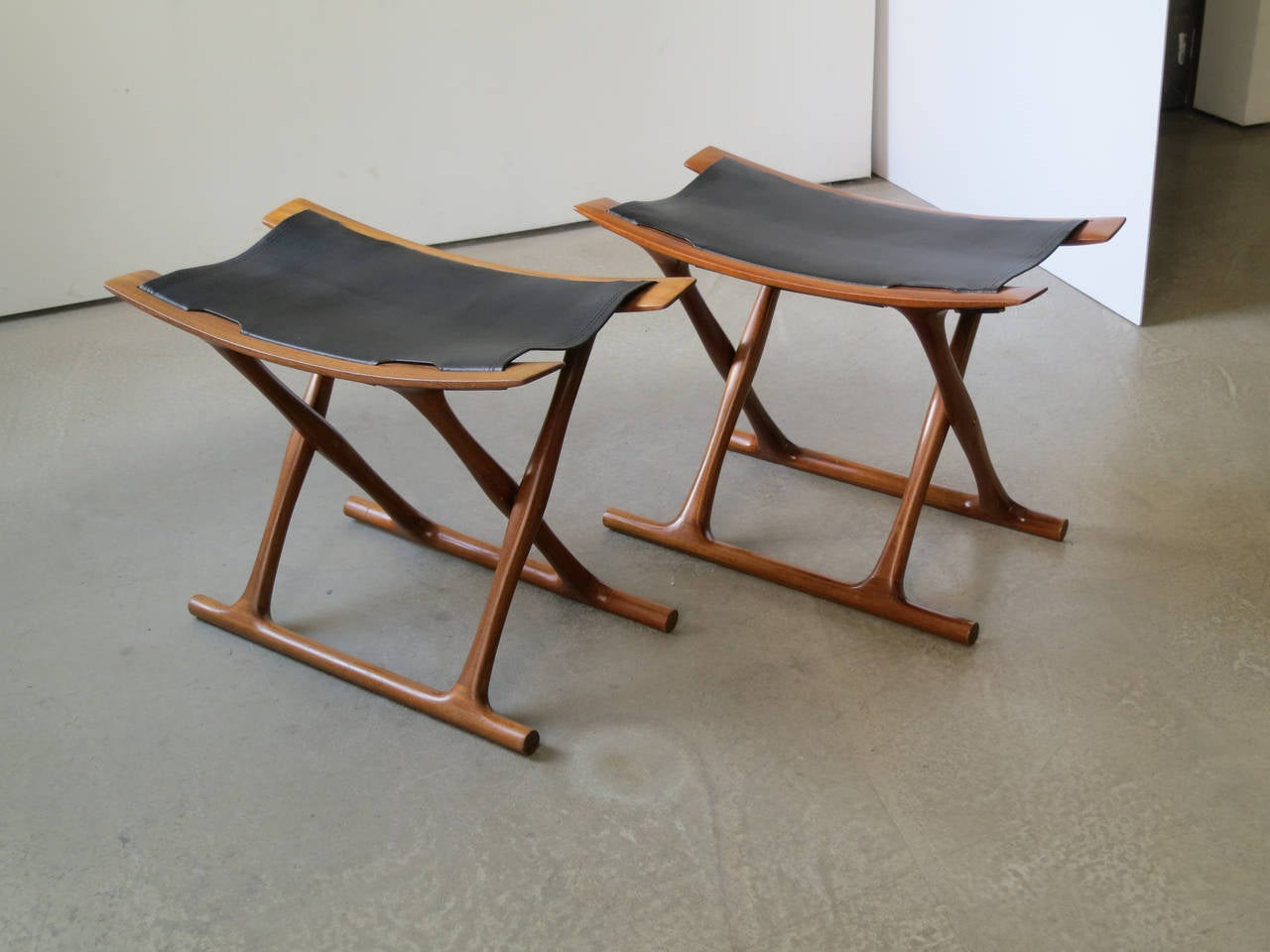pair of egyptian folding stools by ole wanscher 2
