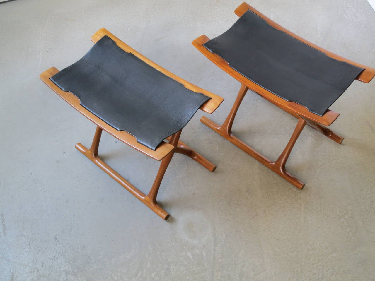 pair of egyptian folding stools by ole wanscher 3
