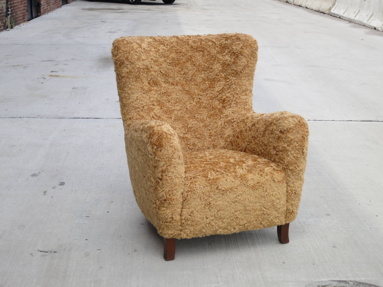teddy bear chair 1940s danish cabinetmaker chair at. Black Bedroom Furniture Sets. Home Design Ideas