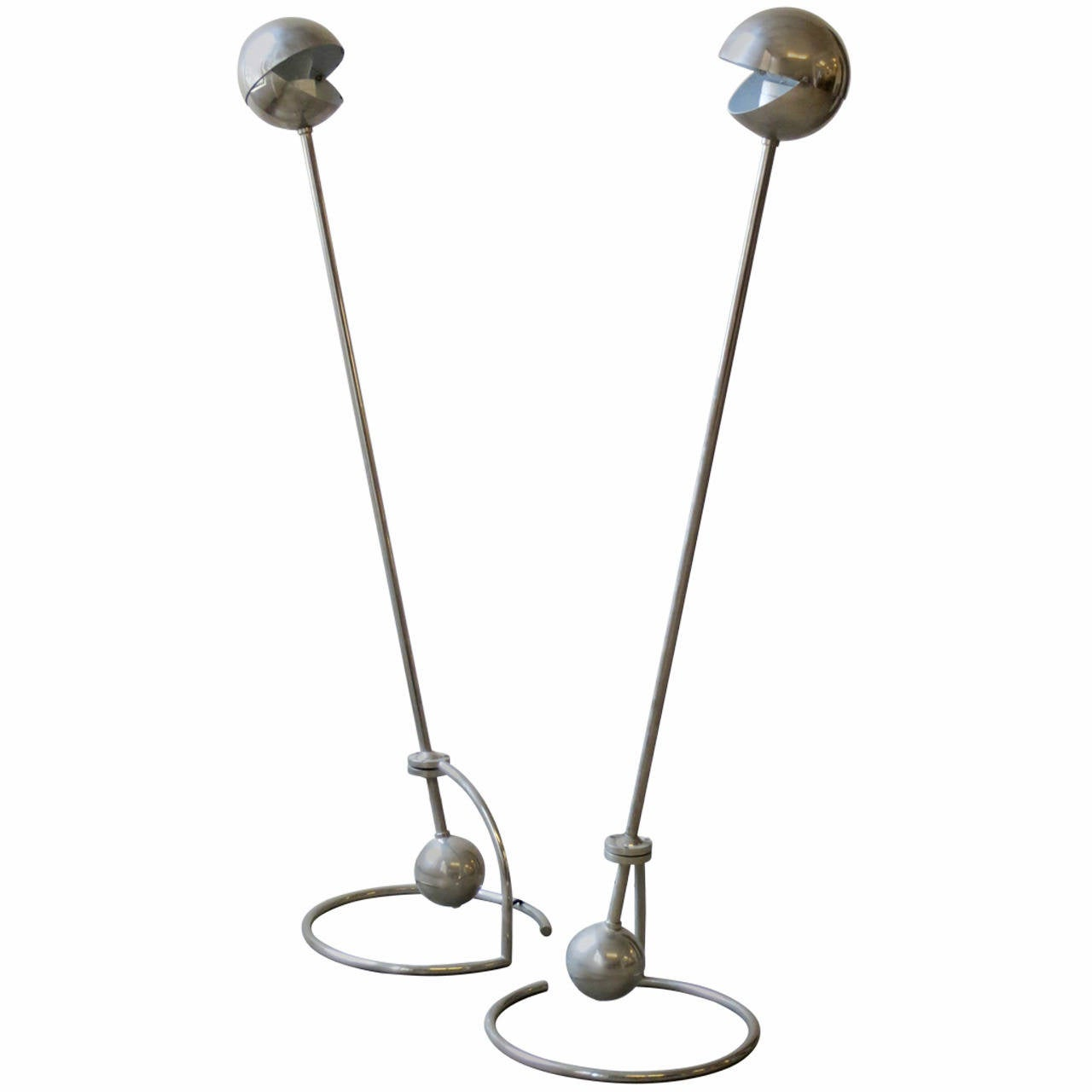 Pair of Desny Standing Lamps, by Woka, Designed 1920s For Sale