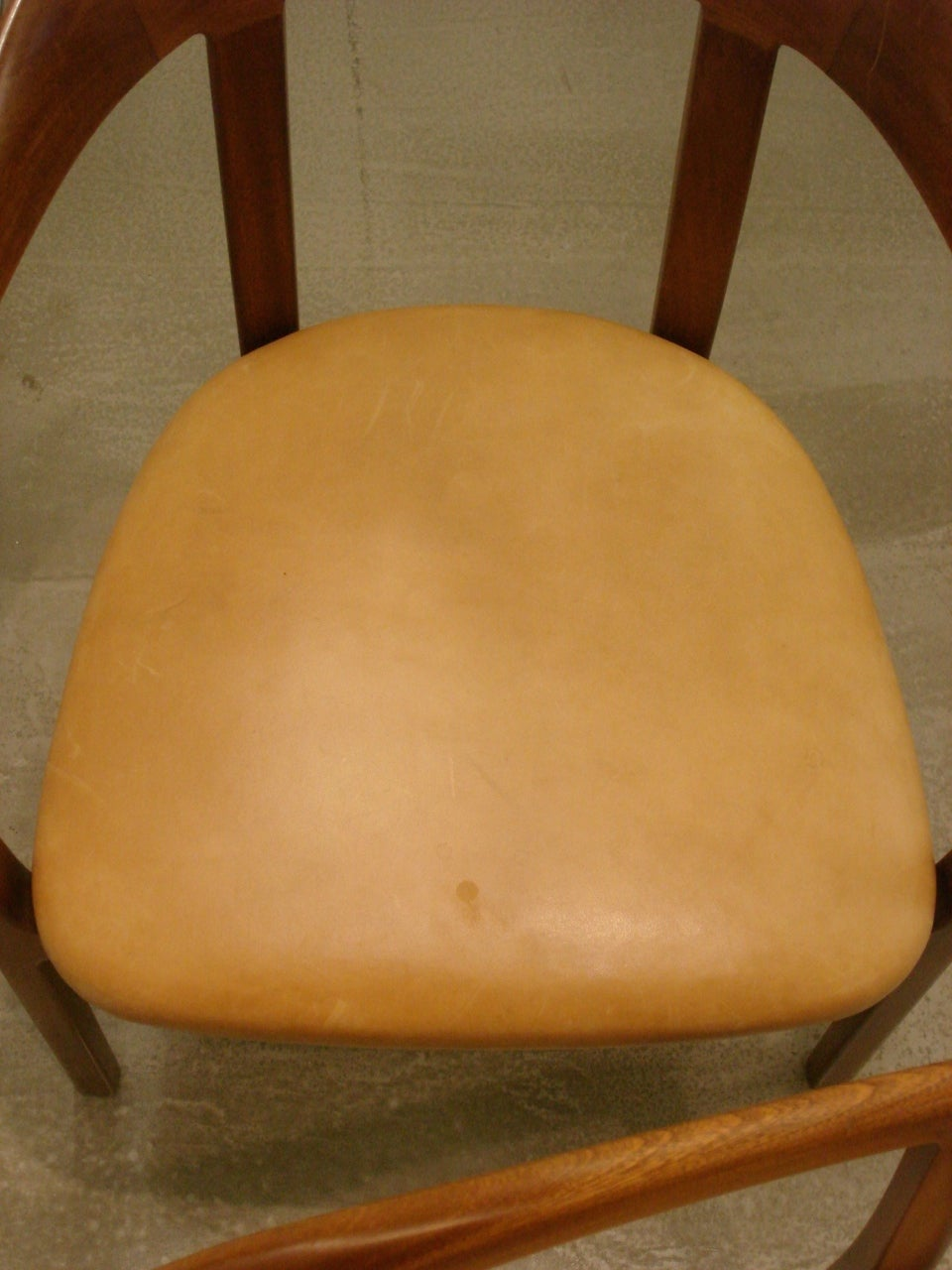 Ole Wanscher, Set of Four 1958 Armchairs in Mahogany and Original Leather Seats For Sale 1