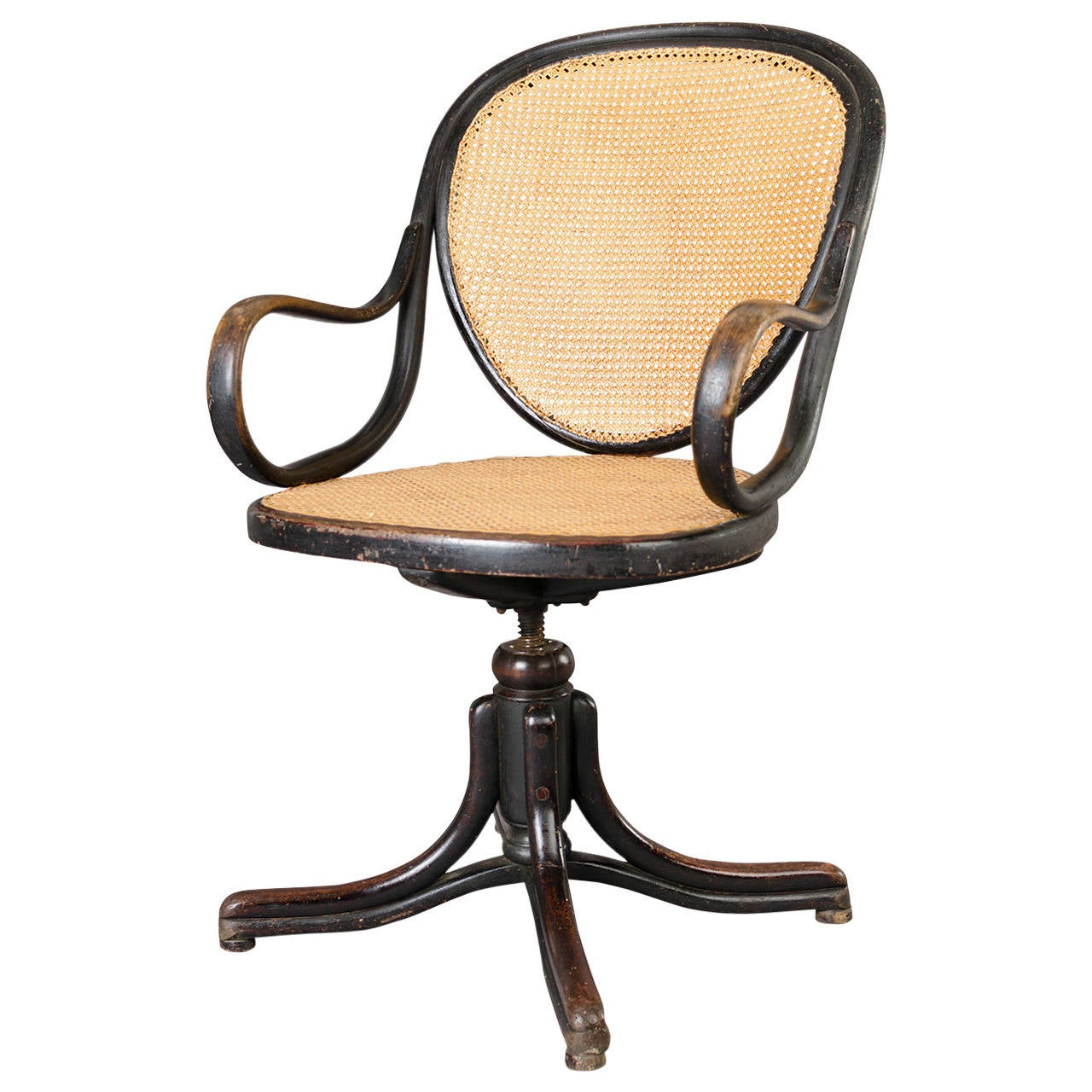 swivel office chair by gebr der thonet vienna at 1stdibs. Black Bedroom Furniture Sets. Home Design Ideas