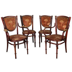 Small Art Nouveau Period Living Room Chairs, circa 1900