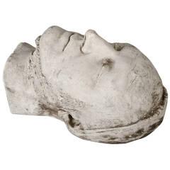 Plaster Death Mask, circa 1880 - 1900