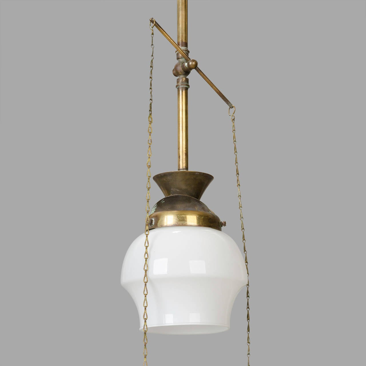 Small Late 19th Century Brass Gas Suspension For Sale At