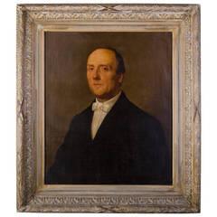 1865's Man Portrait by A. bourson