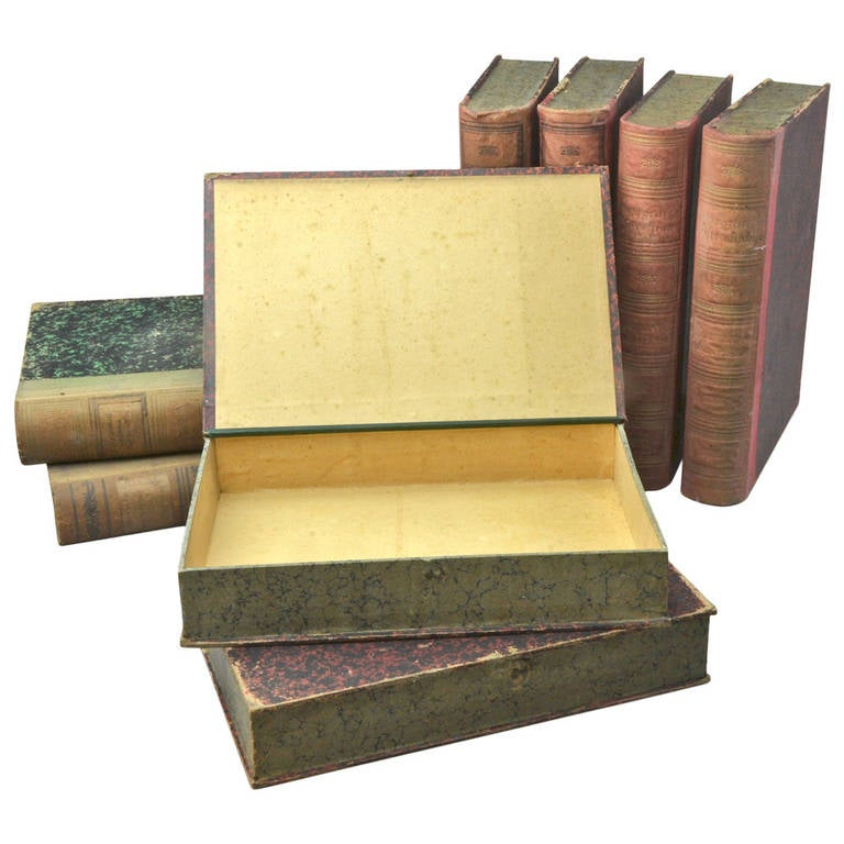 Eight Book Form Boxes Circa 1900 For Sale