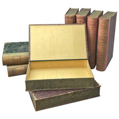 Eight Book Form Boxes Circa 1900