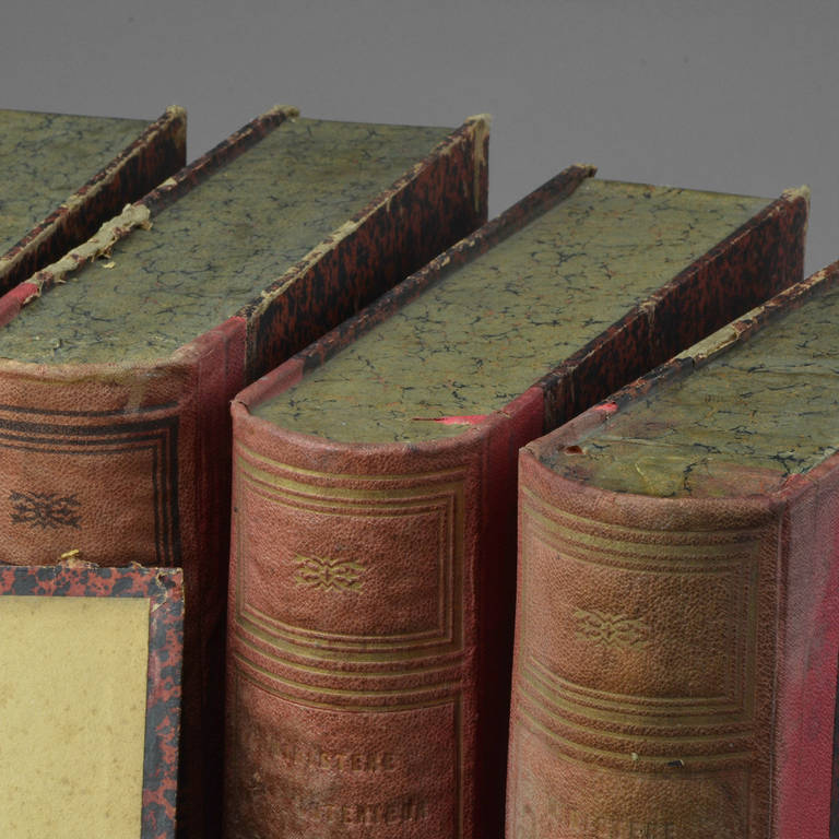 Eight Book Form Boxes Circa 1900 In Good Condition For Sale In Saint-Ouen, FR