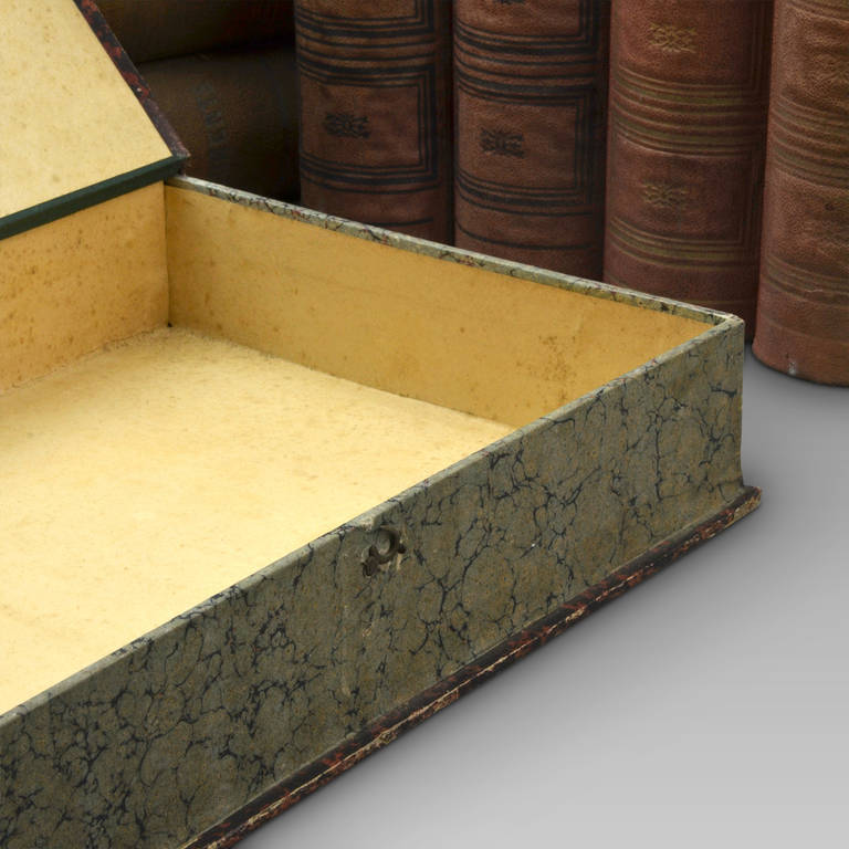 20th Century Eight Book Form Boxes Circa 1900 For Sale