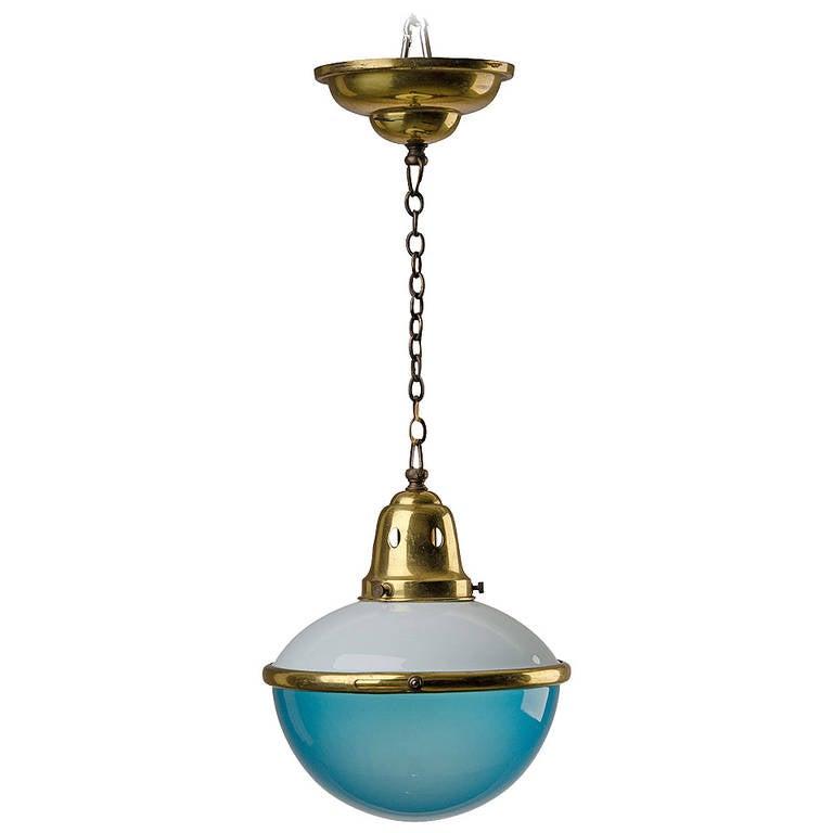 Small art deco pendant light signed jlrin at 1stdibs for Artistic pendant lights