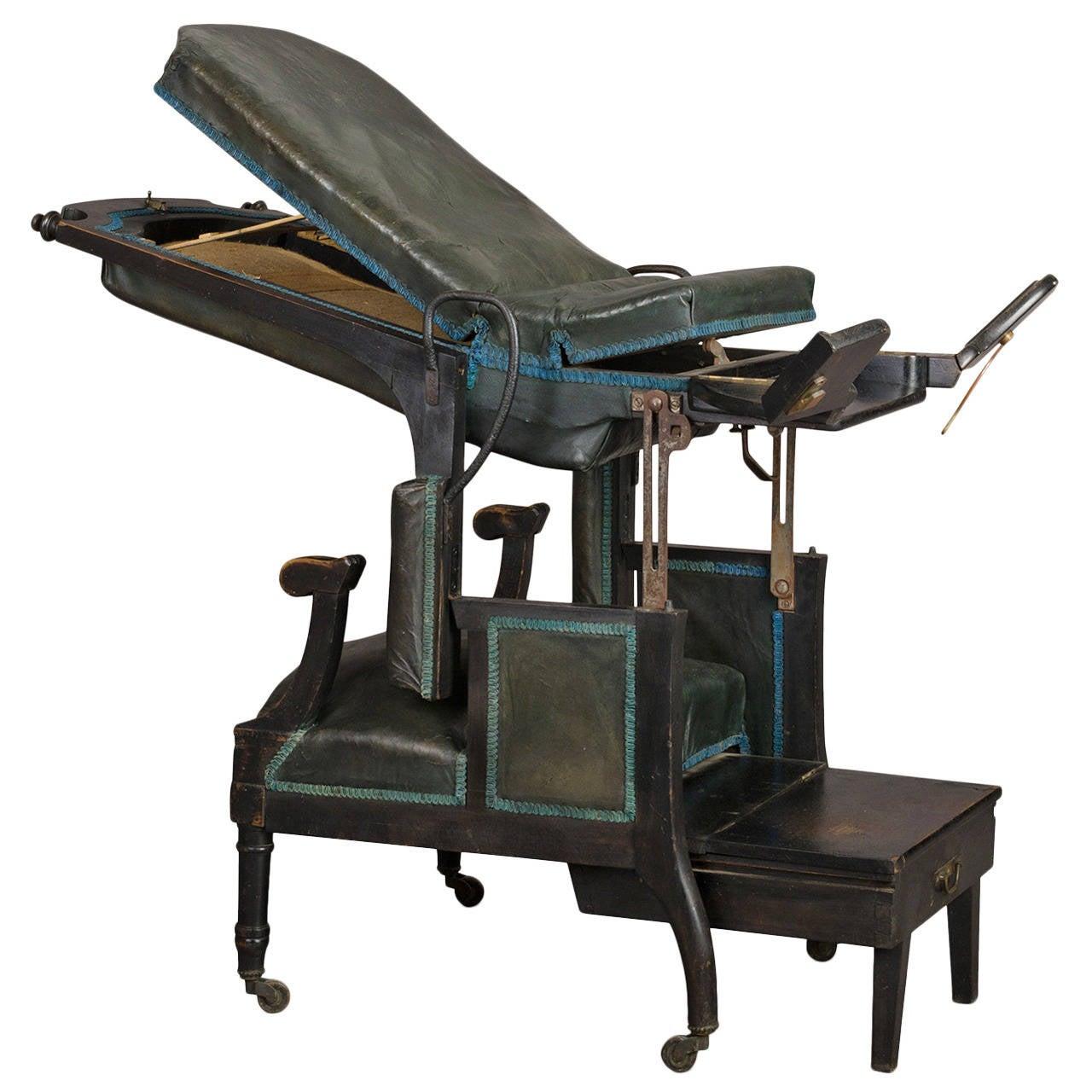 Medical Mechanical Armchair, Circa 1870 For Sale