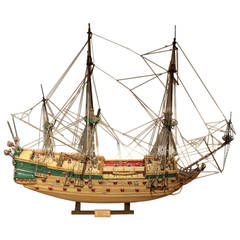 Late 20th Century Large Model Scratch Built Ship of Wappen Von Hamburg