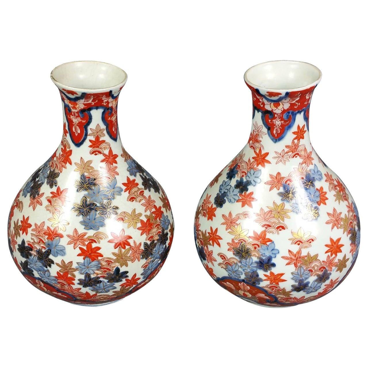 Pair of 19th century japanese imari pottery vases for sale at 1stdibs pair of 19th century japanese imari pottery vases for sale reviewsmspy