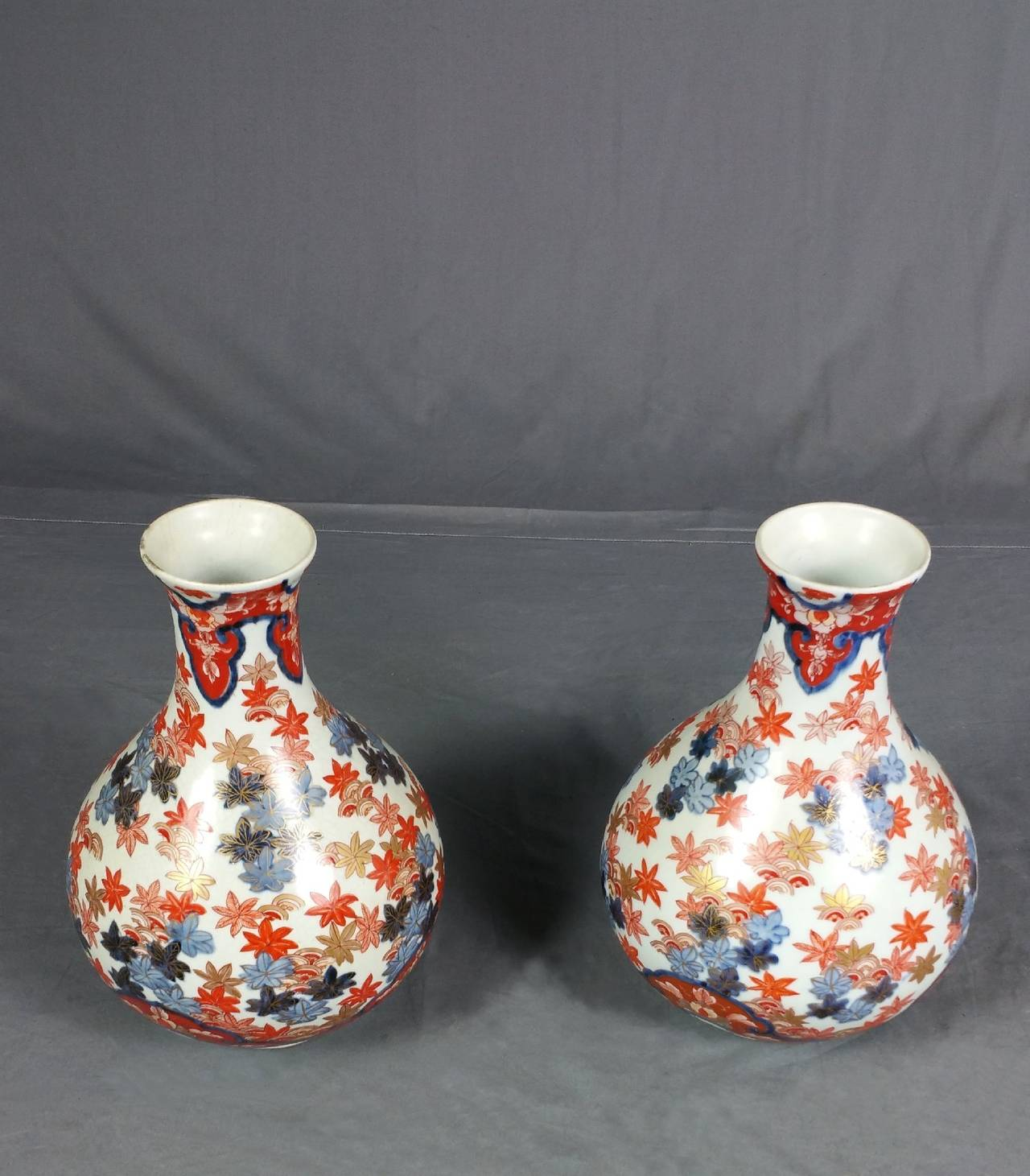 Pair of 19th century japanese imari pottery vases for sale at 1stdibs these very attractive pair of japanese imari pottery vases are late 19th c and are hand reviewsmspy