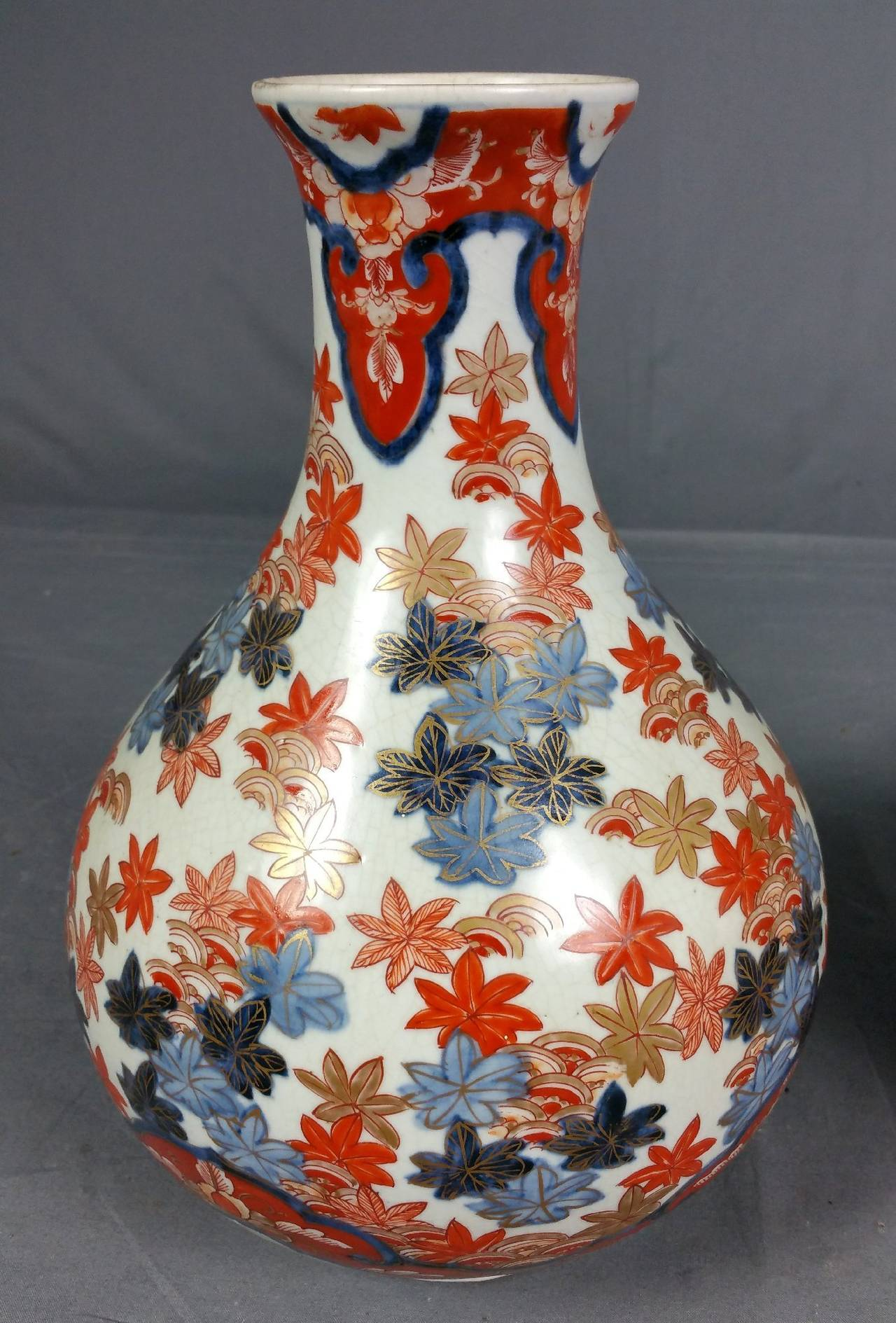 Pair of 19th century japanese imari pottery vases for sale at 1stdibs hand painted pair of 19th century japanese imari pottery vases for sale reviewsmspy