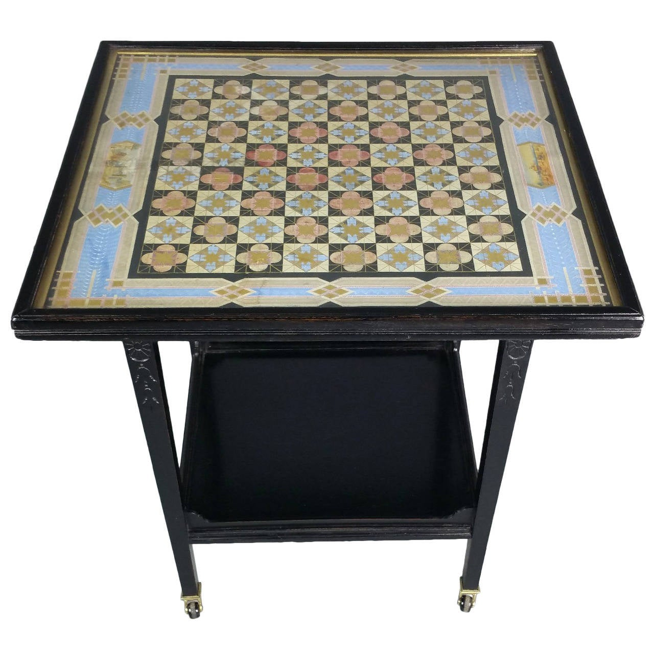Victorian ebonized aesthetic movement two tier chess table at 1stdibs victorian ebonized aesthetic movement two tier chess table 1 geotapseo Image collections