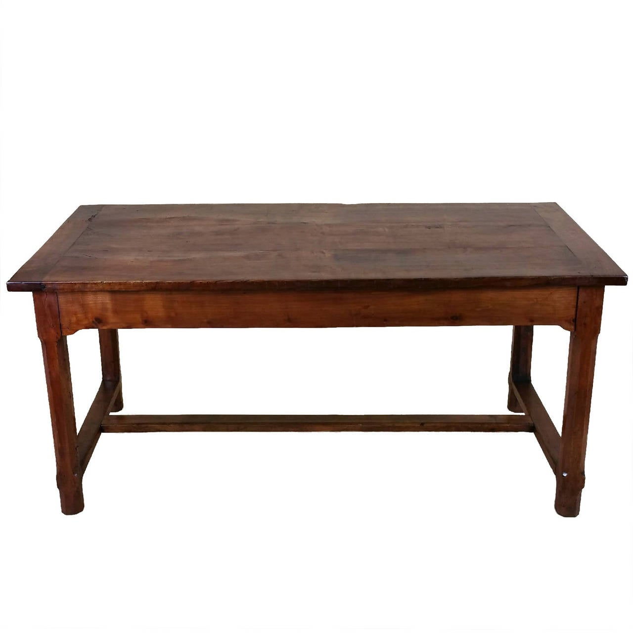 Early 19th Century French Cherrywood Farm House Table 1