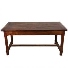 Early 19th Century French Cherrywood Farm House Table