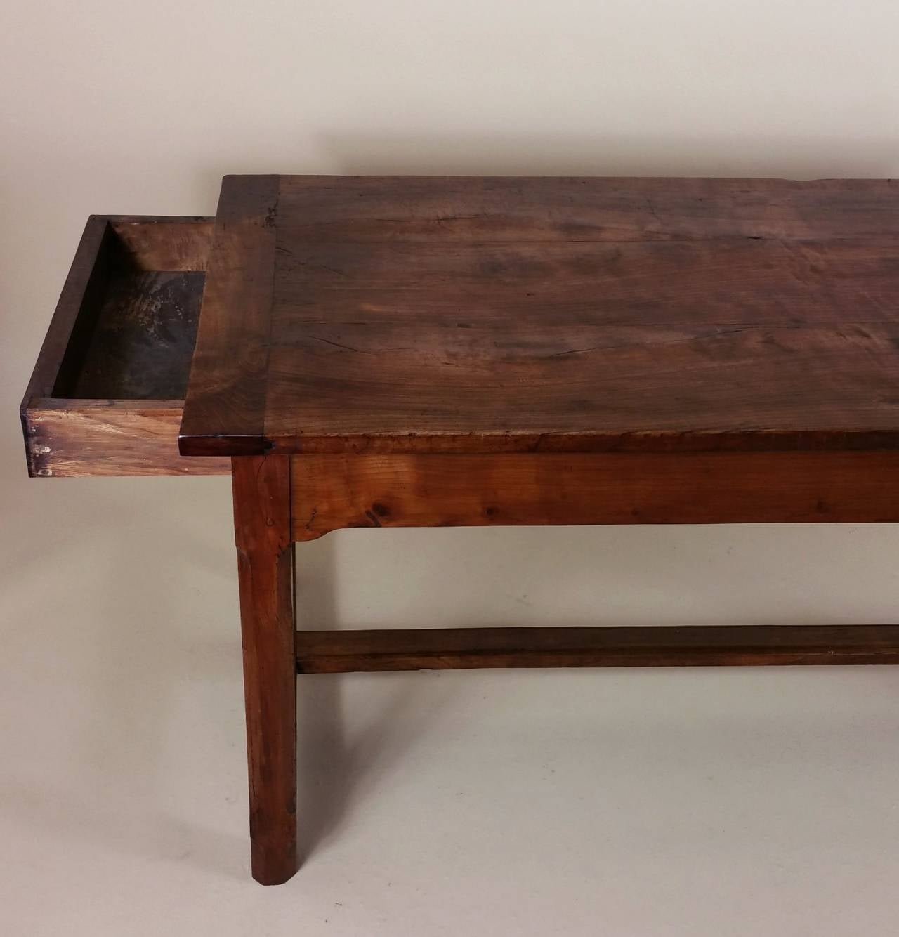 Early 19th Century French Cherrywood Farm House Table 4