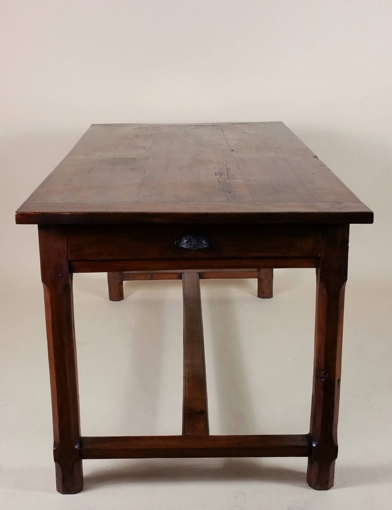 Early 19th Century French Cherrywood Farm House Table 5