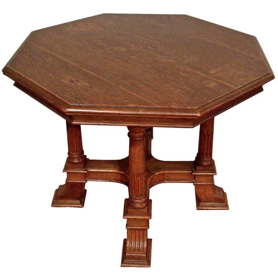 Victorian Octagonal Oak Centre Table at 1stdibs : 1343438 1 from www.1stdibs.com size 960 x 960 jpeg 107kB