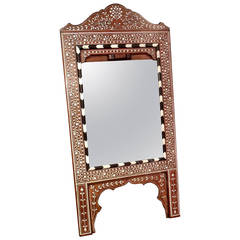 Late 19th Century Moorish Hardwood Easel Mirror