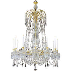 Extremely Rare English Regency Period Antique Chandelier of Unusual Design